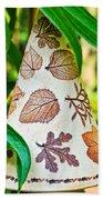 Garden Leaf Pattern Windchime Beach Towel