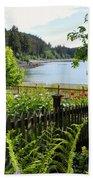 Garden With A View Beach Towel