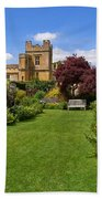 Gardens Of Sudeley Castle In The Cotswolds Beach Towel
