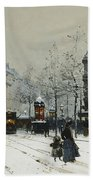 Gare Du Nord Paris Beach Towel