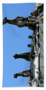 Gargoyles In A Row Beach Towel