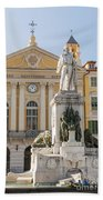 Garibaldi Monument In Nice France Beach Towel