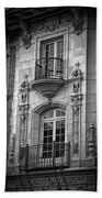 Garrison Hall Window Ut Bw Beach Towel