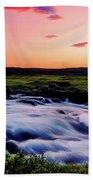 Gaski Waterfall, Grafarlandaa River Beach Towel