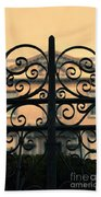 Gate In Front Of Mansion Beach Towel