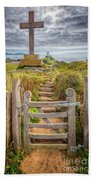 Gate To Holy Island  Beach Towel by Adrian Evans