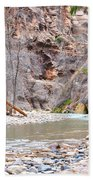 Gateway To The Zion Narrows Beach Towel