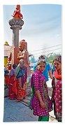Gathering At Hindu Festival Of Ram Nawami In Kathmandu-nepal Beach Towel