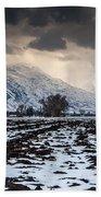 Gathering Winter Storm - Utah Valley Beach Towel