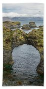Gatklettur Arch In Hellnar Beach Towel
