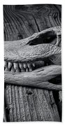 Gator Black And White Beach Towel