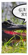 Gators Rule Greeting Card Beach Towel by Al Powell Photography USA