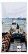 Gatun Locks Panama Canal Beach Towel