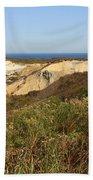 Gay Head Lighthouse With Aquinnah Beach Cliffs Beach Sheet