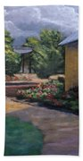 Gazebo In Potter Nebraska Beach Towel by Jerry McElroy