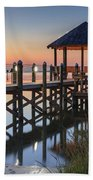 Gently - Gazebo On The Sound Outer Banks North Carolina Beach Towel