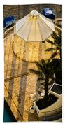 Gazebo Shadow Lines Beach Towel