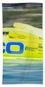 Geico Off Shore Racing Beach Towel