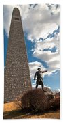Gen. John Stark At The Bennington Battle Monument Beach Towel