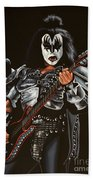 Gene Simmons Of Kiss Beach Towel