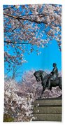 General In The Cherry Blossoms Beach Towel