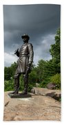 General K Warren Monument Gettysburg Beach Towel by James Brunker