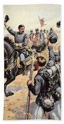 General Mcclellan At The Battle Beach Towel by Henry Alexander Ogden