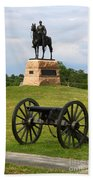 General Meade Monument And Cannon Beach Towel by James Brunker