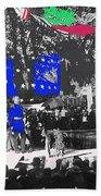 General Nelson A Miles Golden Sword Presentation Tucson Arizona  11-08-87 Color Added 2008 Beach Towel