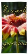 General Party Invitation - Blanket Flower Wildflower Beach Towel by Mother Nature
