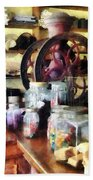 General Store With Candy Jars Beach Towel