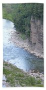 Genesee River In Grand Canyon Of East Beach Towel
