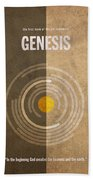 Genesis Books Of The Bible Series Old Testament Minimal Poster Art Number 1 Beach Towel