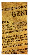 Genesis Beach Towel
