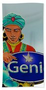 Genie Neon Sign Beach Towel