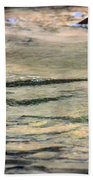 Gently Gliding Water Abstract Beach Towel