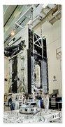 Geo-1 Satellite In Lab Beach Towel