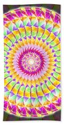Geo Master Eleven Kaleidoscope Beach Towel by Derek Gedney
