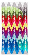 Geometric Colors  Beach Towel