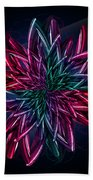 Geometric Flower  Beach Towel