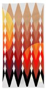 Geometric Fun Beach Towel by Mark Ashkenazi