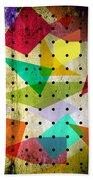 Geometric In Colors  Beach Towel by Mark Ashkenazi