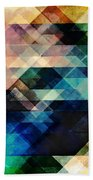 Geometric Textural Colorations Beach Towel
