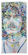 George Harrison Portrait.2 Beach Towel