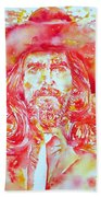 George Harrison With Hat Beach Towel