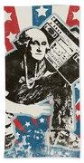 George Washington - Boombox Beach Towel