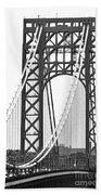 George Washington Bridge Nj Tower Beach Towel