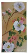 Georgia Flowers - Apple Blossoms- Stretched Beach Towel