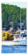 Georgia Madison Lobster Boat Beach Towel