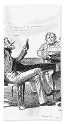 Georgia: Poker Game, 1840s Beach Towel